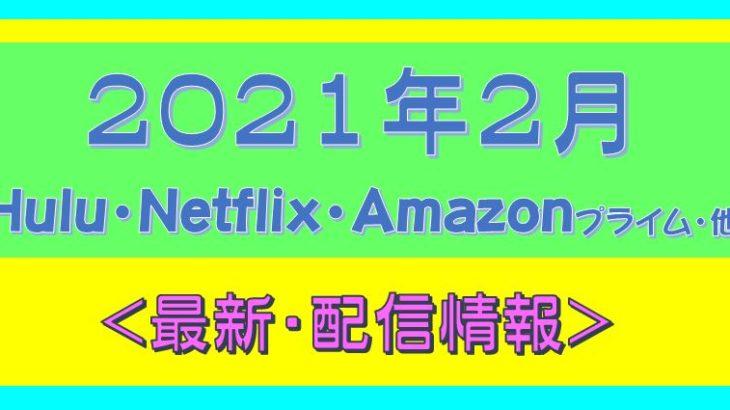 2021年2月*海外ドラマ配信予定.Netflix.Hulu.プライムビデオ.他